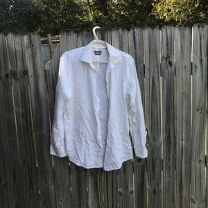 32-33 Kenneth Cole reaction white button up